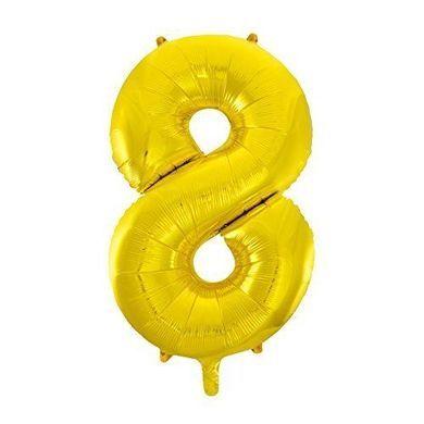 """Balónek """"8"""" zlatý"""