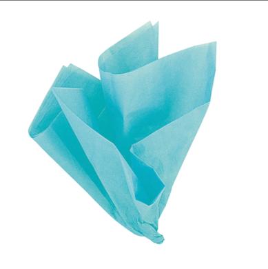 Dekorační hedvábný papír tyrkysový