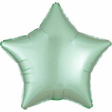 Fóliový balónek hvězda Satin Luxe mentolový