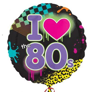 Fóliový balónek I love 80's
