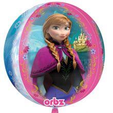 Fóliový balónek orbz Frozen pink