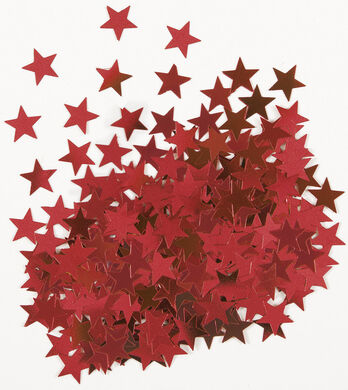 Konfety Star červené