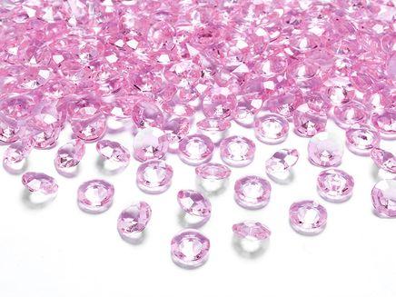 Krystalové diamanty světle růžové