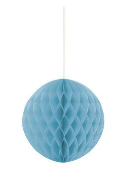 Papírová koule Honeycomb baby blue
