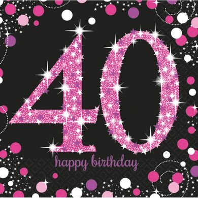 "Ubrousky ""40"" Pink Diamonds"