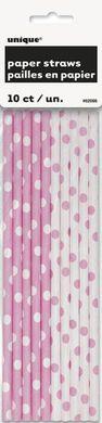 Brčka papírové světle růžová