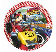 Talíř velký Mickey a závodníci