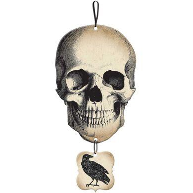 Závěsná dekorace Lebka s vránou