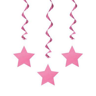 Závěsné spirály Star růžové