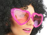 Brýle Mega srdce růžové