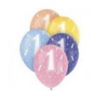 Latexové balónky s číslicemi