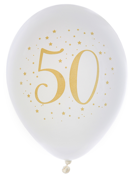 "Balónky ""50"" zlaté"