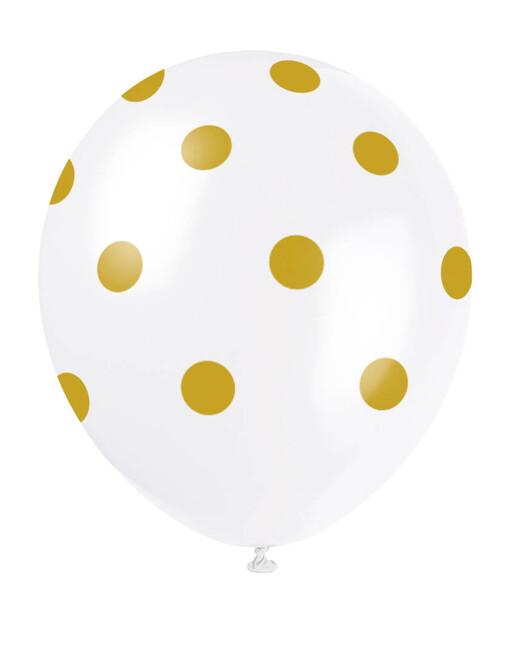 Tečkované balónky zlaté