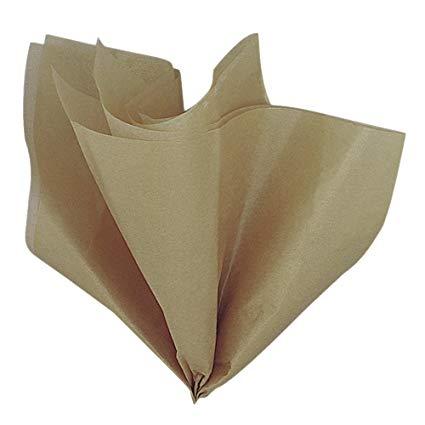 Levně Dekorační hedvábný papír zlatý
