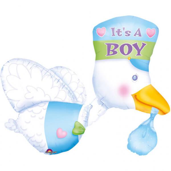 Levně Fóliový balónek Čáp It's a Boy