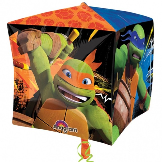 Fóliový balónek kostka Ninja želvy