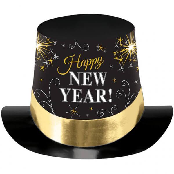 Klobouk vysoký Happy New Year