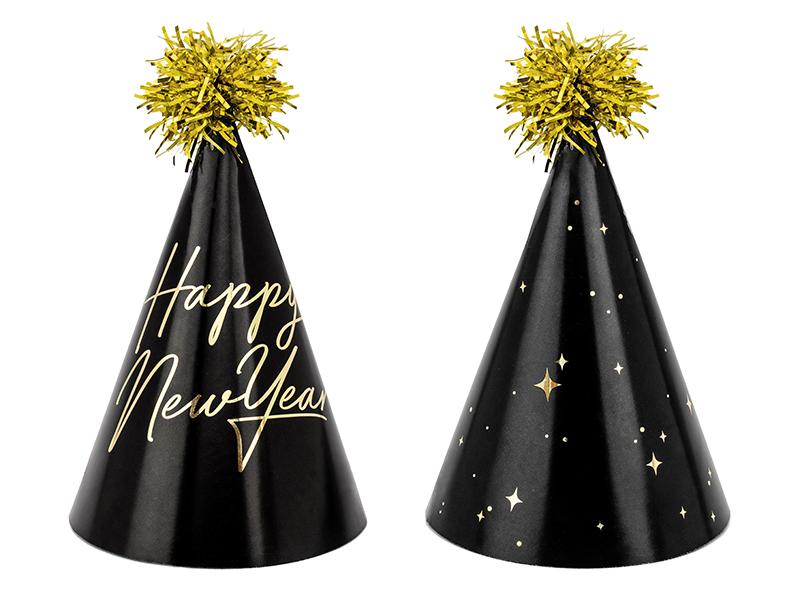 Klobouček Happy New Year černý