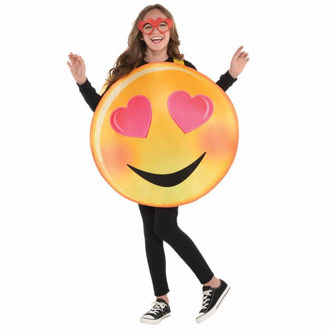 Kostým Emoji Love 8-10 let