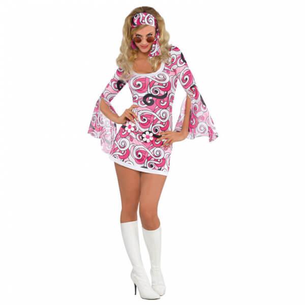 Kostým Retro šaty Růžové L