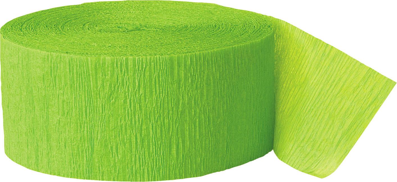 Levně Krepový papír limetkově zelený