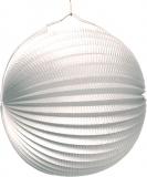 Lampion jednobarevný bílý