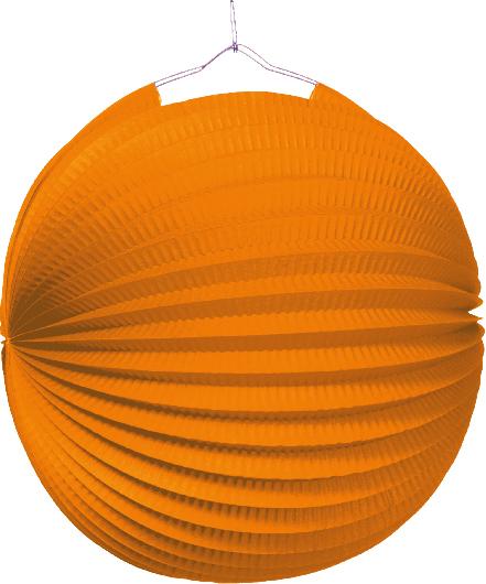 Lampion jednobarevný oranžový