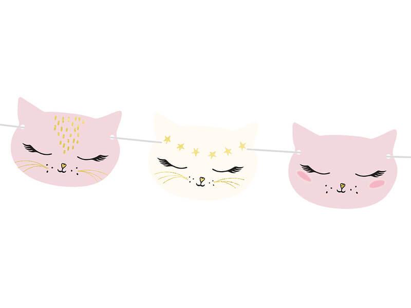 Papírová girlanda Kočička
