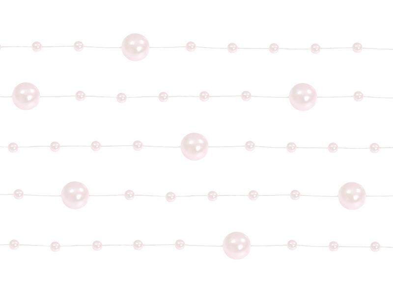 Levně Perleťové girlandy světle růžové