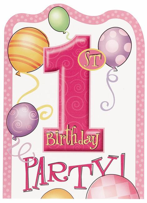 pozvánka na 1 narozeniny Pozvánky 1.narozeniny holčička   PARTYSPIRIT.CZ pozvánka na 1 narozeniny