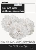 Mini pompónové koule bílé