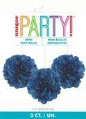 Mini pompónové koule modré