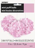 Mini pompónové koule baby pink