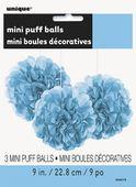 Mini pompónové koule světle-modré