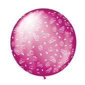 Balónek velký fuchsia swirls