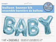 Balónkový banner Baby modrý