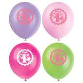 Balónky 1.narozeniny pink Safari
