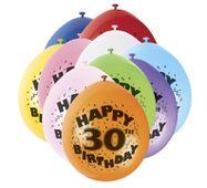 """Balónky """"30"""" Brilliant birthday"""