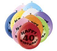 """Balónky """"40"""" Brilliant birthday"""