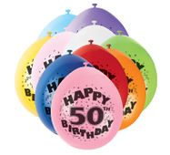 """Balónky """"50"""" Brilliant birthday"""