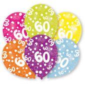 "Balónky ""60"" multi"