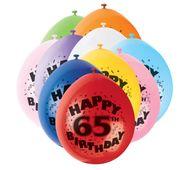 Balónky 65. narozeniny
