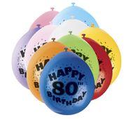 Balónky 80. narodeniny