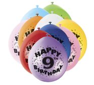 Balónky 9. narozeniny