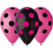 Tečkované balónky růžové
