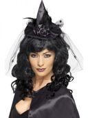 Čarodějnický mini klobouk černý
