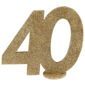 """Číselná dekorace """"40"""""""