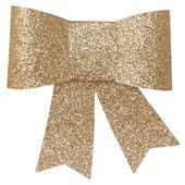 Dekorační mašle s úchytkou zlatá