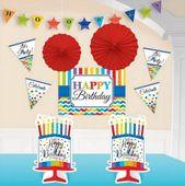 Dekorační sada Birthday Bright rainbow