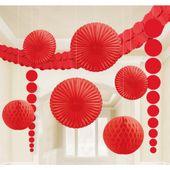 Dekorační sada místnosti červená